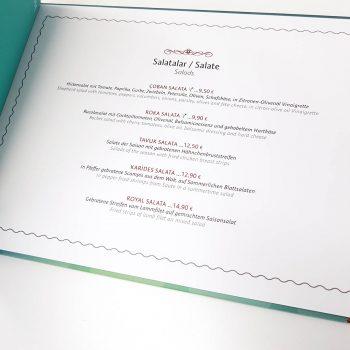 Speisekarte Design Restaurant Cafe Bar