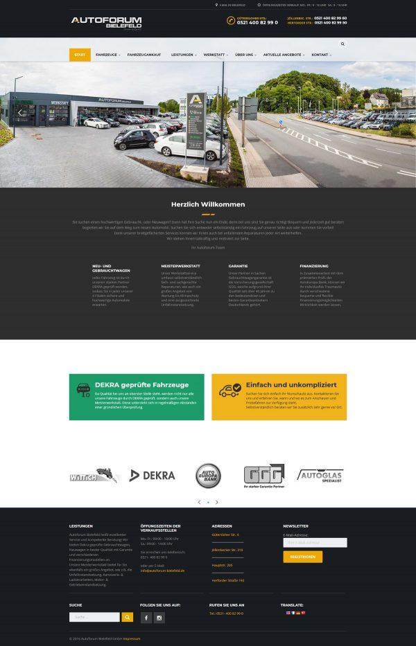 Autoforum Bielefeld Webseite