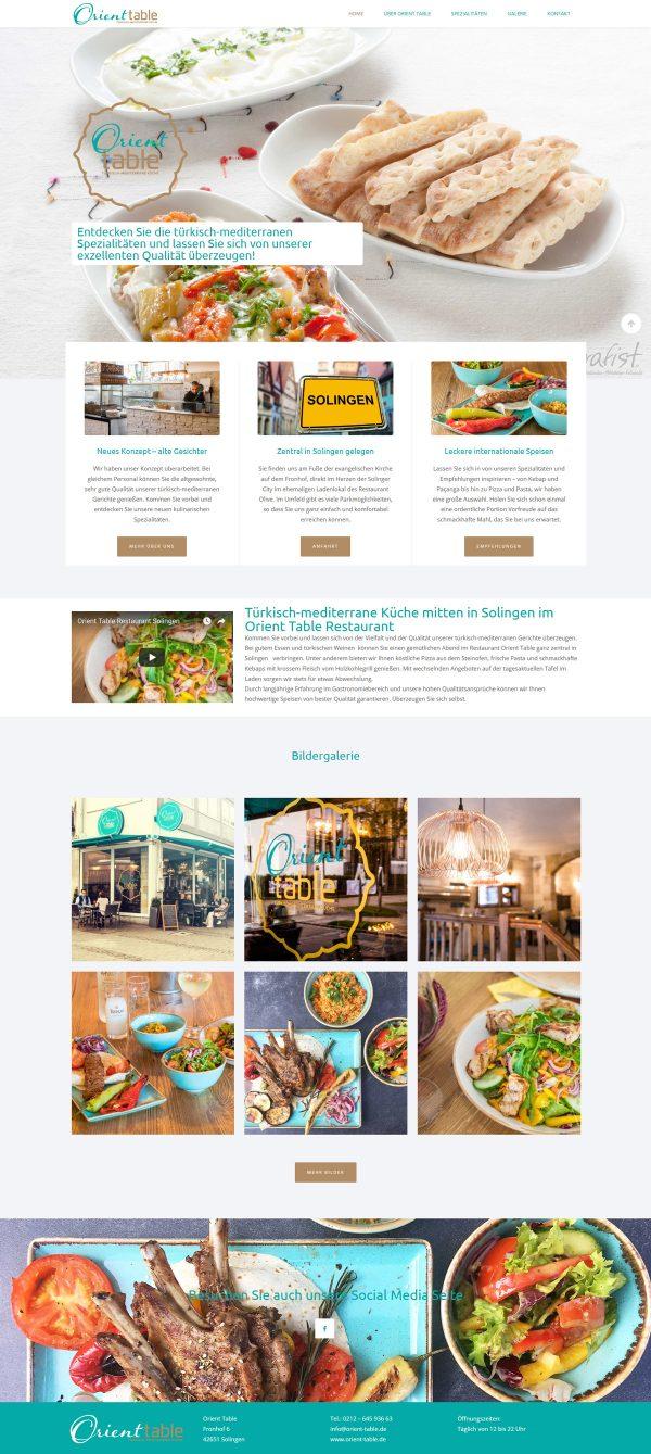 Orient Table Webseite Start