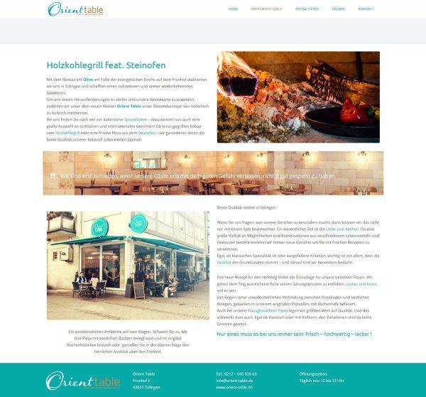 Orient Table Webseite Über