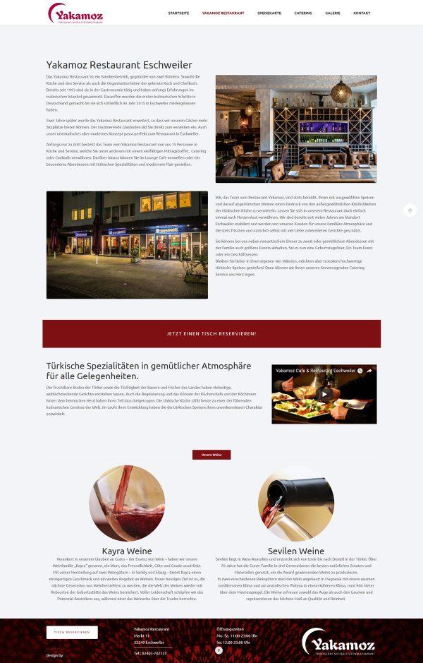 Yakamoz Restaurant Webseite Über