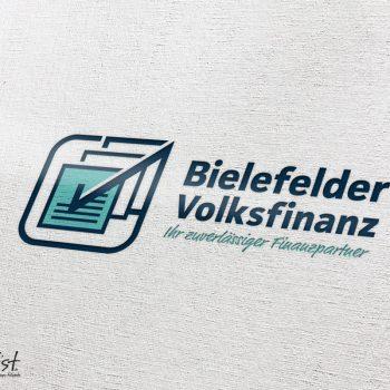 Grafist Logodesign Bielefelder Volksfinanz