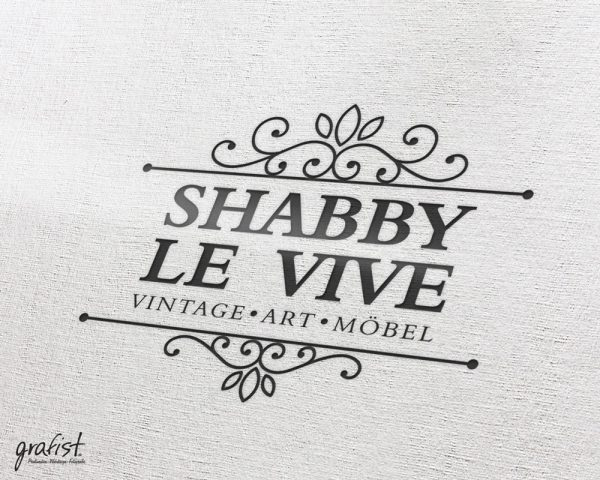 Grafist Logodesign Shabby Le Vive Vintage Art Möbel