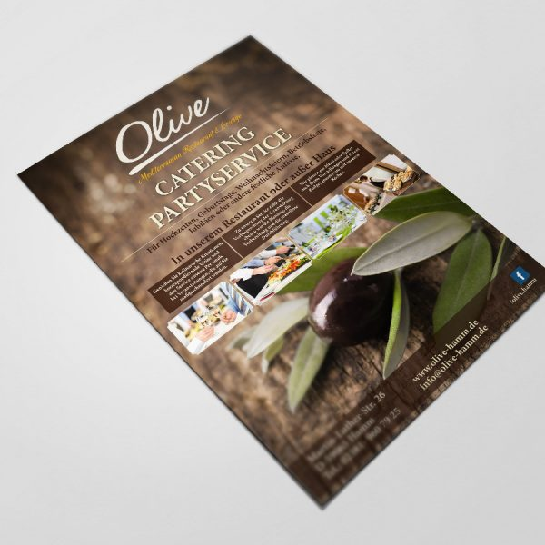 Flyer Catering Restaurant Olive