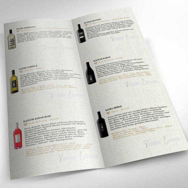 Grafist Kayra moderne Weinkarte