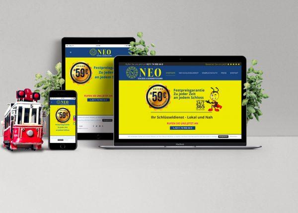 Schlüsseldienst Neo Düsseldorf Webseite