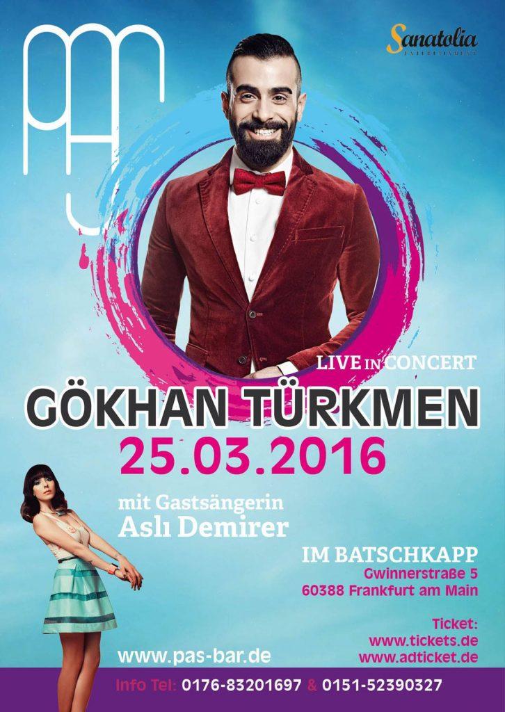 Gökhan Türkmen Konzert Plakat Design
