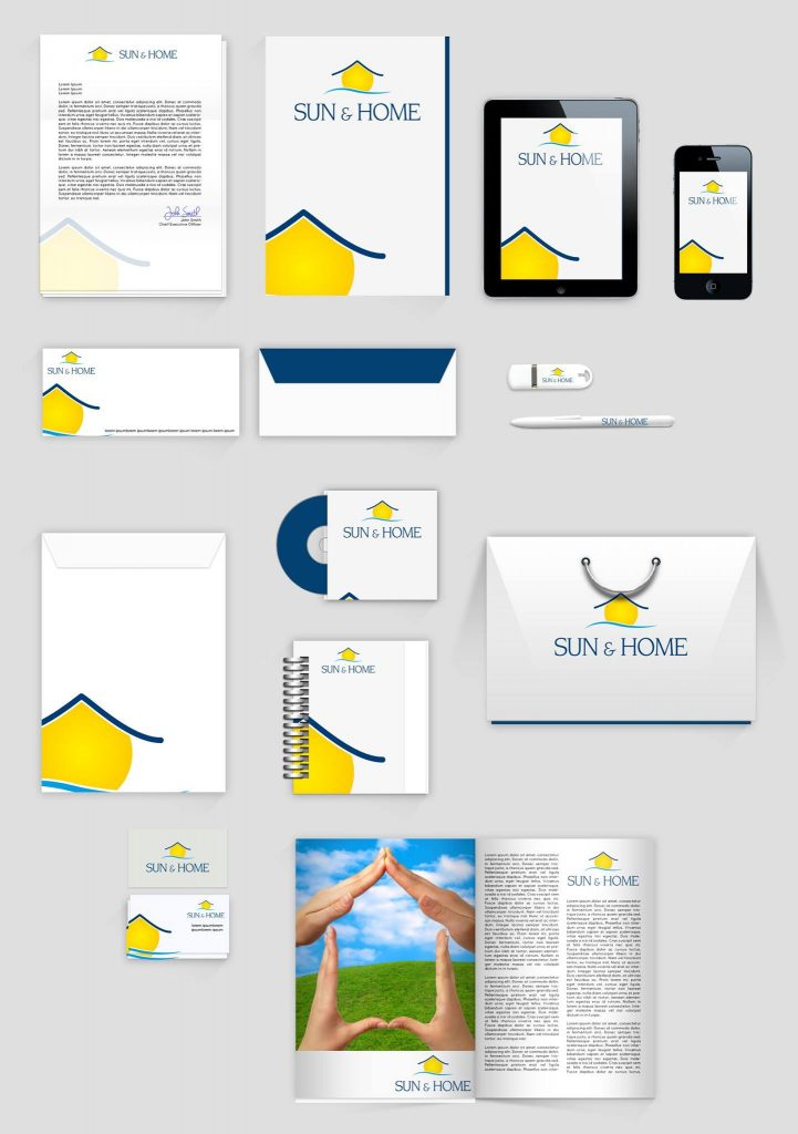Corporate Design Sun and Home