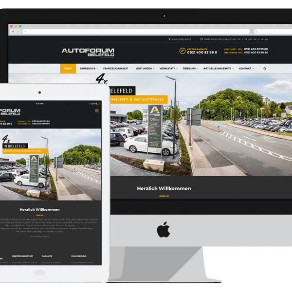 Grafist + Autofroum Bielefeld - Webseite