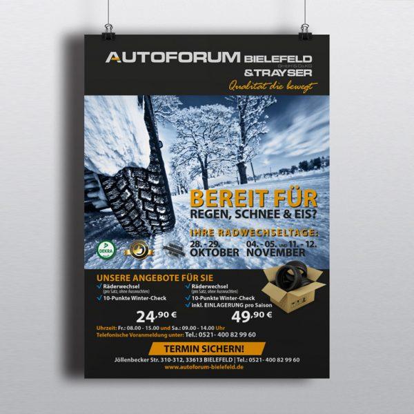 Grafist + Autofroum Bielefeld - Werbeplakat