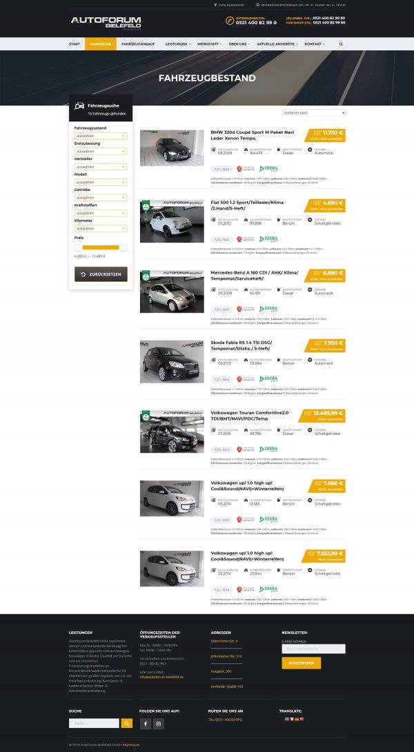 Autoforum Bielefeld Webseite Autokauf