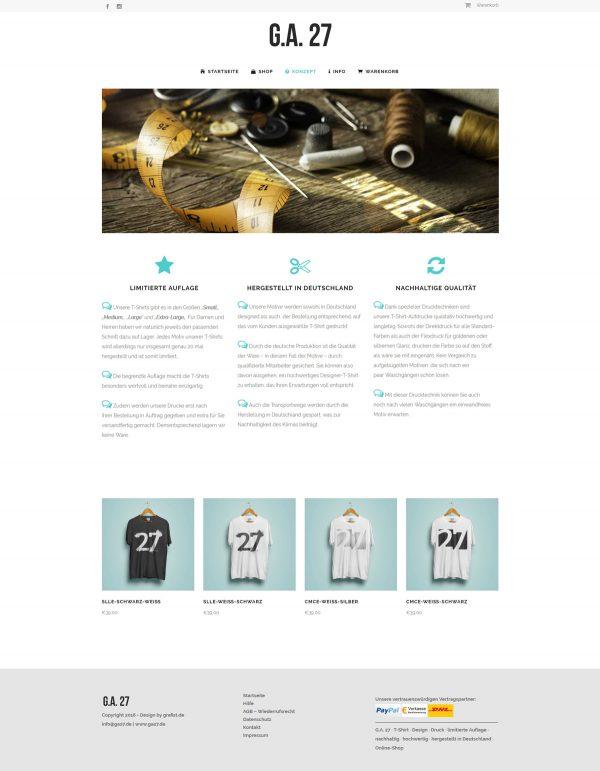 G.A. 27 Webseite Konzept