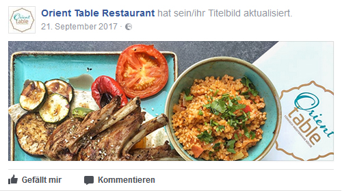 Social Media Orient Table