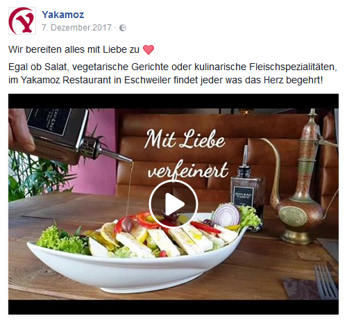 Social Media Yakamoz Restaurant