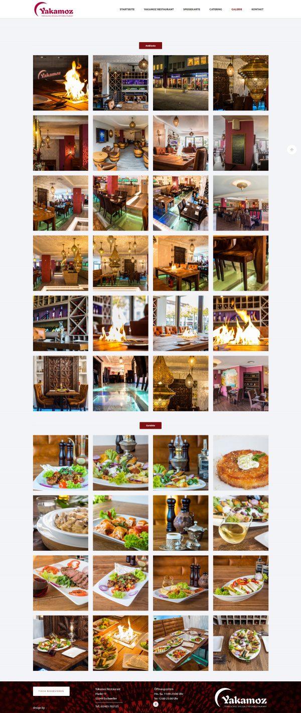 Yakamoz Webseite Galerie