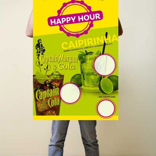 Plakat Happy Hour Captain Morgan